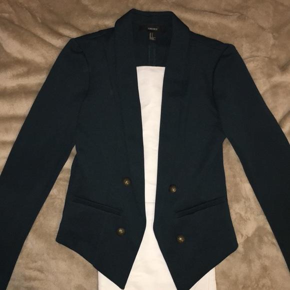 Forever 21 Jackets Coats Dark Forest Green Suit Jacket Poshmark